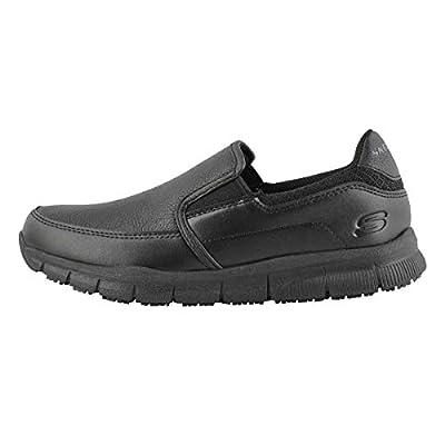 Skechers for Work Women's Nampa-Annod Food Service Shoe,black polyurethane,8 W US