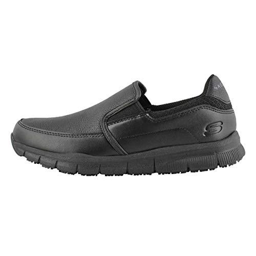 Skechers for Work Women's Nampa-Annod Food Service Shoe, black polyurethane, 7 M US