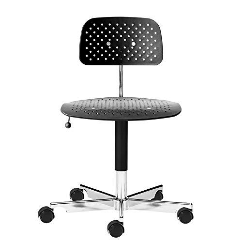 Engelbrechts Kevi Air Bürostuhl, schwarz Gestell Aluminium blank poliert