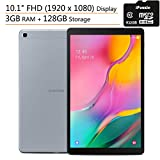 Samsung - Galaxy Tab A - 10.1' FHD (1920 x 1080) - Wi-Fi Tablet - 3GB RAM + 128GB ROM - Silver Touchscreen Portable Tablets, iPuzzle 32GB MicroSD Card
