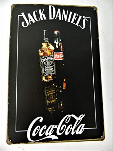 coca Plaque métal publicitaire Vintage COLA Fond Blanc de 30 x 15cm