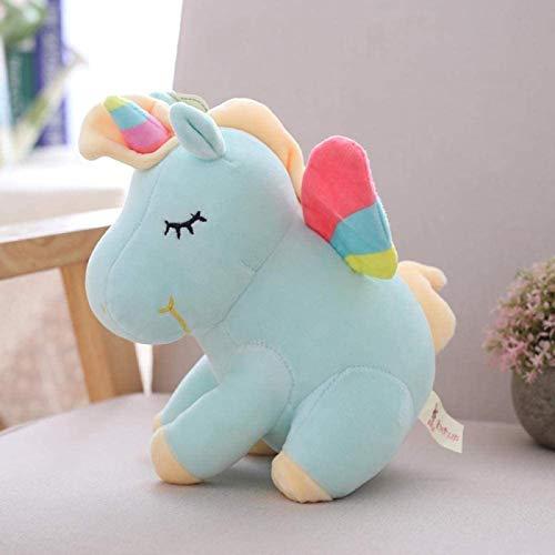 DINEGG Encantador Ángel Unicorn Toy Pelush Toy Soft Unicornio Peluche Doll Unicorn Relleno Juguetes para Niños Niños Y Niñas Regalo De Cumpleaños-55CM_Blue YMMSTORY