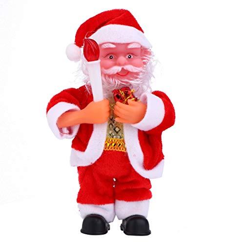 PRETYZOOM Muñeco de peluche de Papá Noel, accesorio de Navidad para niños, decoración de Navidad