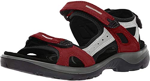ECCO Damen Offroad Sport-& Outdoor Sandalen, Rot (Chilired/Concrete/Black 55287), 38 EU