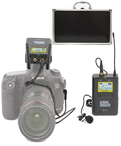 Pixel 50-kanaals UHF Draadloos Lavalier Microfoon Systeem met Draagbare lcd-Ontvanger voor DSLR-camera's Mobiele Telefoons Gebruikt voor Video-opname, Programma-Hosting en Interview