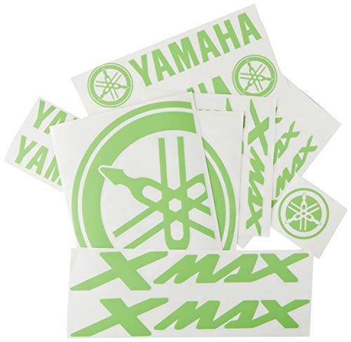 Ecoshirt P7-B0DN-YDXE Pegatinas Moto Xmax X MAX F147 Stickers Aufkleber Decals Autocollants Adesivi, Verde