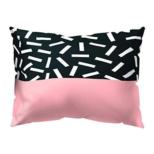 DOLDOA Haushalt Wohnen,Druck Kissenbezug Polyester Sofa Auto Kissenbezug Home Decor 30 X 50 cm (MehrfarbigH)
