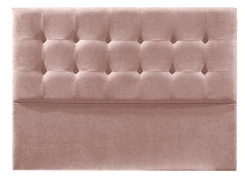 Cabecero de Cama tapizado en Tela Nido. Altura 120cm. Color Salmón. para Cama de 150 (Medidas 160x120x8) Pro Elite.