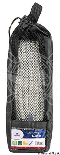 Osculati Cima ormeggio impiombata 20 mm x 12 m nera (Spliced Mooring Line Black 20 mm x