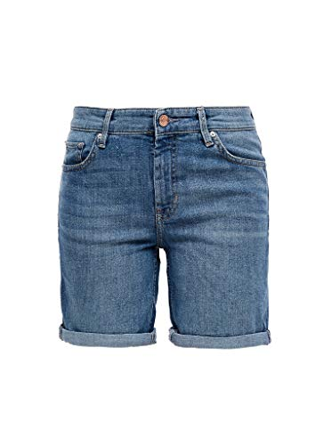 s.Oliver Hose Kurz Shorts en Jean, 54z3 Middle Blue Denim, 38 Femme