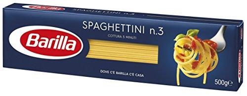 Barilla Pasta Spaghettini N.3, Pasta Lunga di Semola di Grano Duro, I Classici, 500 g