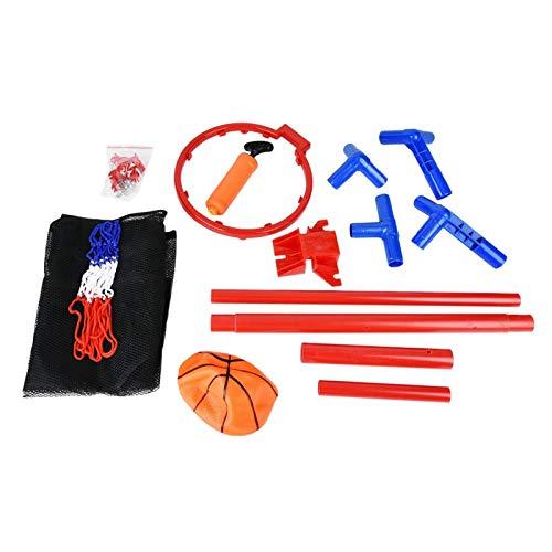 Juego de Canasta de aro para niños Juego de Red de aro de Baloncesto portátil para niños, Interior para niños al Aire Libre, Fitness al Aire Libre
