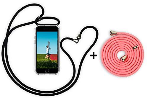 YuhooTech Handykette Kompatibel mit iPhone 5 / 5S / 5C, Smartphone Necklace Hülle mit Band - Handyhülle mit Kordel Umhängenband - Schnur mit Case zum umhängen