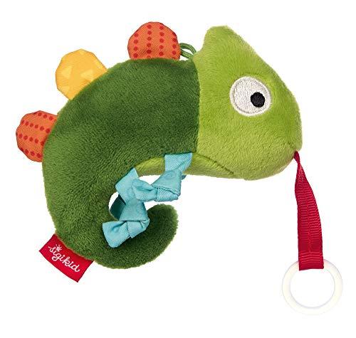 SIGIKID Mädchen und Jungen, Schnullerhalter Chamäleon RedStars, Babyspielzeug, empfohlen ab 0 Monaten, grün, 42383