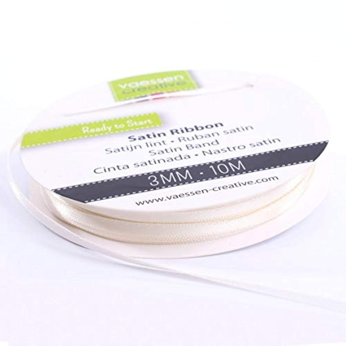 Vaessen Creative Double Satin Ribbon, Antikwei?, 3 mm