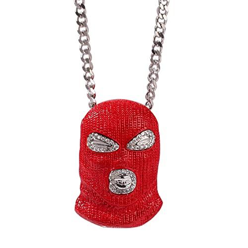 Hip-Hop Rojo Antiterrorismo ColganteÉlite AntiterroristaMáscara Roja Horror Sombrero Colgante Collar