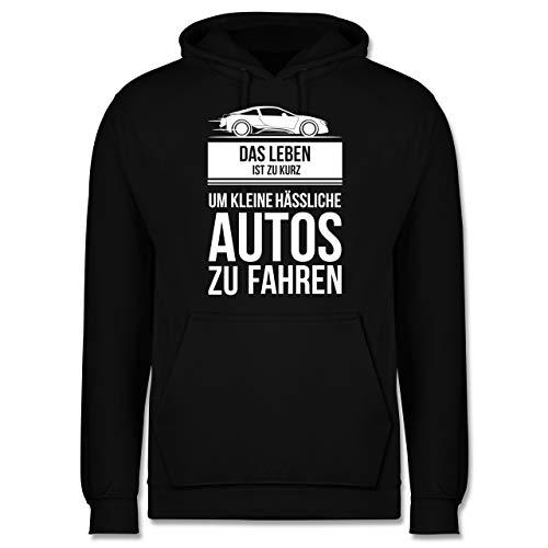 Shirtracer Statement - das Leben ist zu kurz um kleine hässliche Autos zu Fahren - XL - Schwarz - just Drift it - JH001 - Herren Hoodie und Kapuzenpullover für Männer
