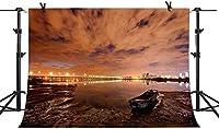 HiYash 8x6ft 写真の背景写真の背景美しい記憶の記録を持つビーチの背景の家の装飾