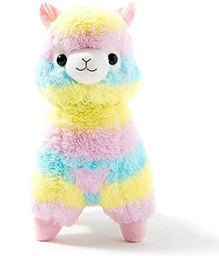 Gutsbox Plüsch Alpaka Plüschtier Kuscheltier 28cm Regenbogen Puppe Alpaka Stofftier Spielzeug für Geschenke Geburtstag Weihnachten Hochzeitstag