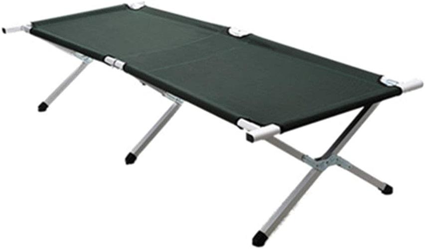 Lit pliant Camping De Camping en Plein Air en Aluminium Portable Portable Lit De Camp en Plein Air (Couleur   Navy bleu)