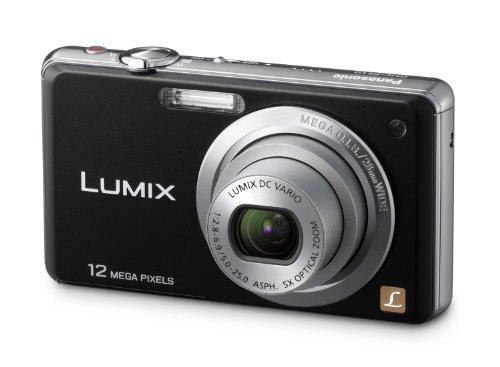 Panasonic LUMIX DMC-FS10EG-K Digitalkamera (12 Megapixel, 5-fach opt. Zoom, 6,86 cm Display, Bildstabilisator) schwarz