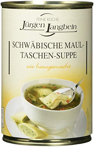 Jürgen Langbein Schwäbische Maultaschen-Suppe, 6er Pack (6 x 400 ml)