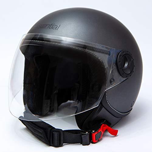 Casco EXSENTIAL Demi Jet EX 730 VL Titanio Metal Opaco Gun Metal Helme