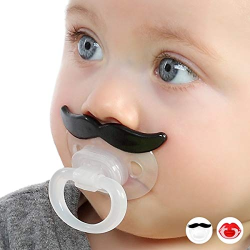 Pacifier pacifier with orthodontic mustache humor funny