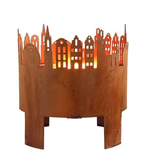 Kerzenhalter in Rostoptik für Drinnen & Draußen - Modell Elch oder Altstadt - Schwedisches Design - Hanna's Laden (Altstadt)