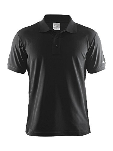 Craft Herren Poloshirt Polo Pique Classic, Black, L