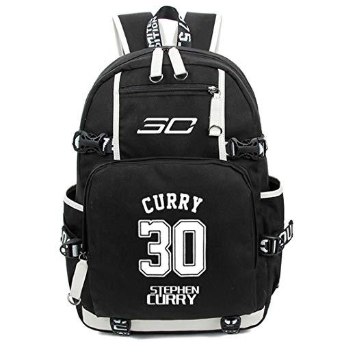AUGYUESS Basketball Player Star Curry Backpack School Bag Daypack Bookbag Shoulder Bag Laptop Bag