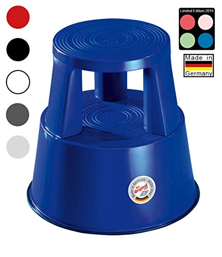 Wedo 212203 Rolkruk Step van kunststof, hoogte 43 cm, draagkracht 150 kg, blauw