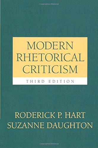 Modern Rhetorical Criticism