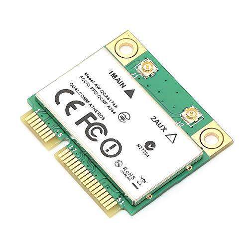 Drahtlose Netzwerkkarte, Mini PCI-E Bluetooth 4.1 Wi-Fi-Karte 2,4G-300 Mbit/s/5G-867 Mbit/s, Hochgeschwindigkeitsübertragung Universelle Kompatibilität Drahtloser Bluetooth-Adapter für Laptops