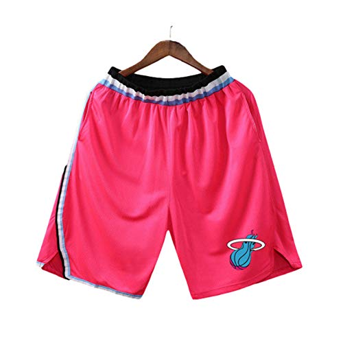 Auyz Mens Youth Boys Basketball Shorts Lightweight Athletic Training Workout Shorts with Pockets Drawstrings-HeatFire Pink-M