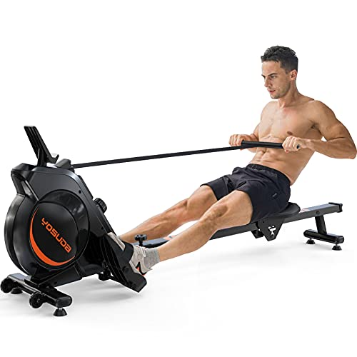 YOSUDA Magnetic Rowing Machine - Foldable Rower for Home Use, with LCD Monitor 8 Level Adjustable Resistance, 350LB Max Weight