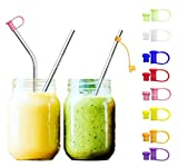 JpGdn 24pcs 6MM Multicolored Food Grade Silicone Straw Tips Cover for 6mm Stainless Steel Straws (6mm)