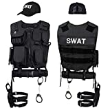 Black Snake Disfraz de Agente Especial SWAT FBI Police Security Traje de Carnaval - XL/XXL - SWAT