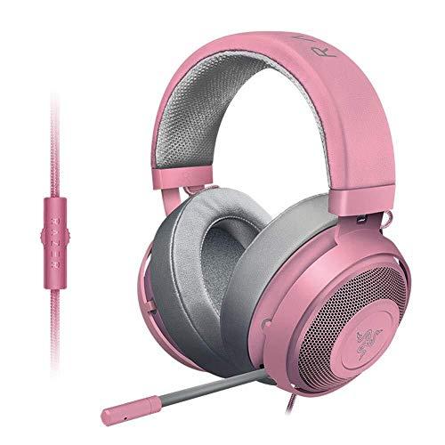 Casque Cristal PC for Les Jeux Mobiles ou vidéo Playbackheadset-Noir, Couleur: Rose (Color : Pink)