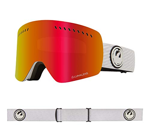 Dragon Alliance NFXS Ski Goggles, PK White/LUMALENS RED ION