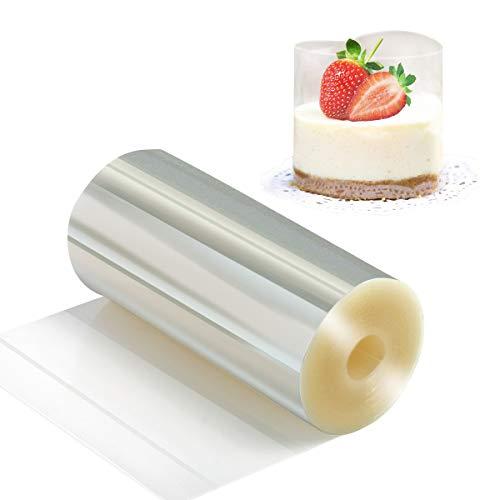 Kuchen halsbänder 10cm x 10m - Vindar klare Acetat streifen, Transparent Acetat Rolle, Mousse Kuchen Kragen zum Backen von Schokoladen mousse, Kuchen verzieren