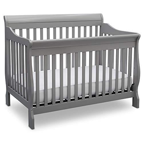 Delta Children Canton 4-in-1 Convertible Crib - Easy to Assemble, Grey