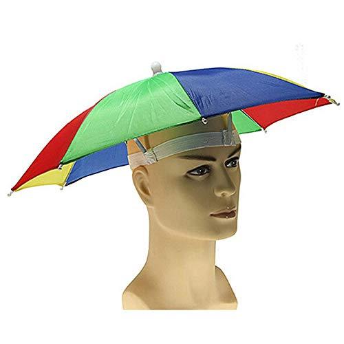 Vektenxi Schirmmütze Tragbare Kopfbedeckung Schirmmütze Sonnenschirm Schirmmütze mit Freisprecheinrichtung zum Angeln, Strand, Outdoor-Aktivitäten 1 Stck