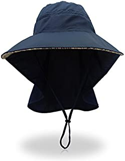 Home Prefer Quick Dry Wide Brim Sun Hats with Neck Flap Fishing Hat Upf50+