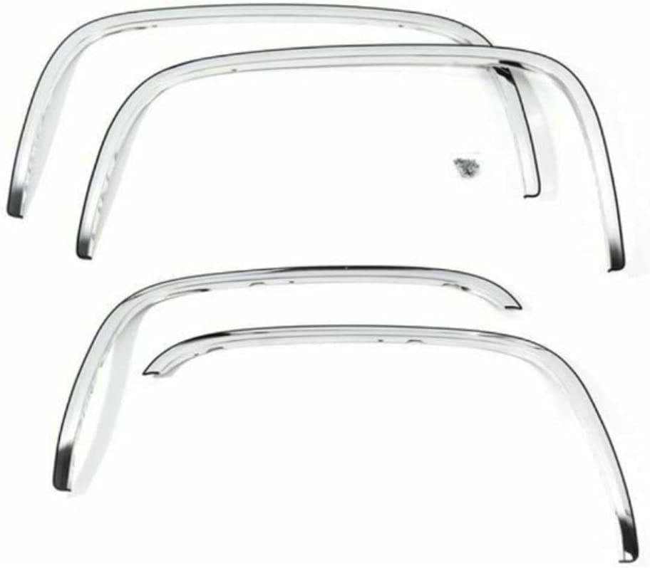 Ass-DG Stainless Steel Fender Fort Worth Mall Trim Compatible Dallas Mall Crew Pick Cab with