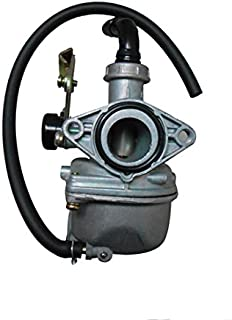PZ 19mm Carb Carburetor with Cable Choke for 110cc Horizontal Engine ATV Go Kart Dirt Pit Bike Quad - Aluminium