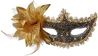 Ndier Venezia máscara de para Mujer de Encaje Sexy con máscara de Masquerade de máscara de pedrería para Mardi Gras, Anonimo Máscara Veneciana de Carnaval y Danza, D Oro