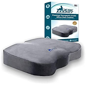 Seat Cushion for Office Chair - Clinical Grade Orthopedic Firm Support Sitting Pillow Non-Slip Bottom - Coccyx & Sciatica Pain Relief Firm - 150 to 250lbs
