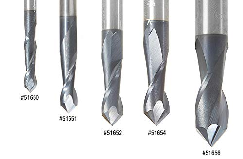 Amana Tool 51655 High Performance CNC Solid Carbide 90/° V Spiral Drills with AlT
