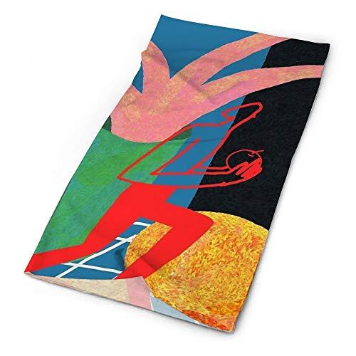 Sjaal Stilleven met Roze Plant En Oranje -up Bandana voor Vrouwen Mannen Gezicht Sjaal Gezicht Nek Warmer Sjaal Zachte Winddichte Novelty Hoofdband voor Sport Wandelen